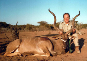 Founder of Brown Precision, the late Chet Brown, with one of his many African trophies.
